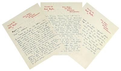 Lot 539-Blyton (Enid, 1897-1968). Autograph Letter, Signed, 1949