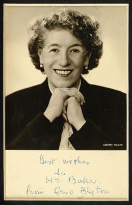 Lot 548-Blyton (Enid, 1897-1968). Autograph letter, Signed, Undated