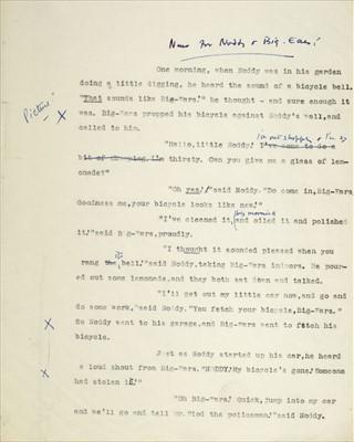 Lot 549-Blyton (Enid, 1897-1968). Autograph letter, Signed, circa 1956