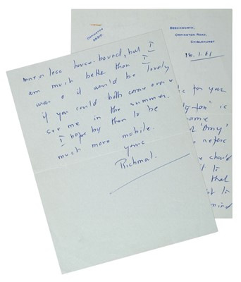 Lot 557-Crompton (Richmal, 1890-1969). Autograph letter signed