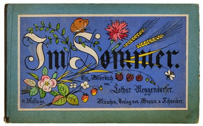 Lot 499-Meggendorfer (Lothar). Im Sommer, ein Bilderbuch [cover-title], 6th edition, circa 1890