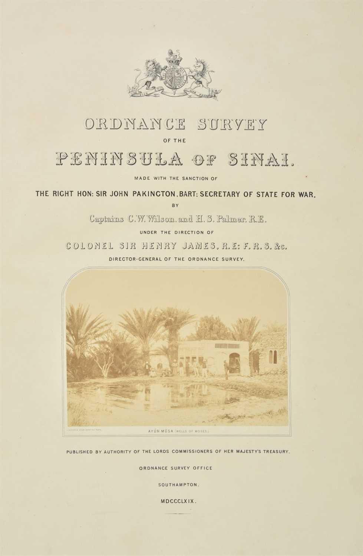 Lot 37-Wilson (Charles William & Palmer, H.S.) Ordnance Survey of Sinai, 1869