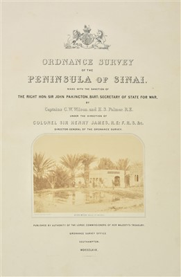 Lot 37-Wilson (Charles William & Palmer, H.S.) Ordnance Survey of Sinai, 1869
