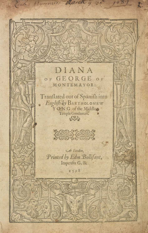 Lot 328-Montemayor (Jorge de). Diana of George of Montemayor, 1st edition in English, 1598