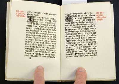 Lot 635-Kelmscott Press. Child Christopher and Goldilind the Fair, by William Morris, 2 volumes, 1895