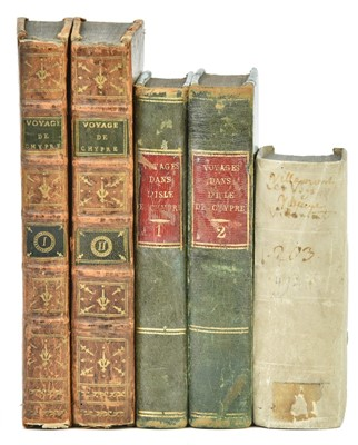 Lot 25-Mariti (Giovanni). Voyages dans l'isle de Chypre, 1st and 2nd editions in French, 1791