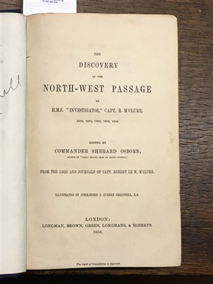 Lot 26-M'Clure (Robert). The Discovery of the North-West Passage, 1856
