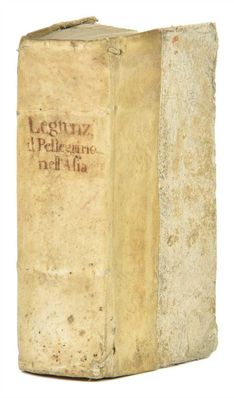 Lot 21-Legrenzi (Angelo). Il pellegrino nell'Asia, 1st edition, Venice, 1705