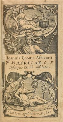 Lot 22-Leo Africanus. Africae descriptio XI lib[ri] absoluta, Elzevir, 1632