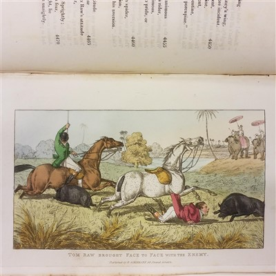 Lot 11-D'Oyly (Charles). Tom Raw, the Griffin: A Burlesque Poem, 1828