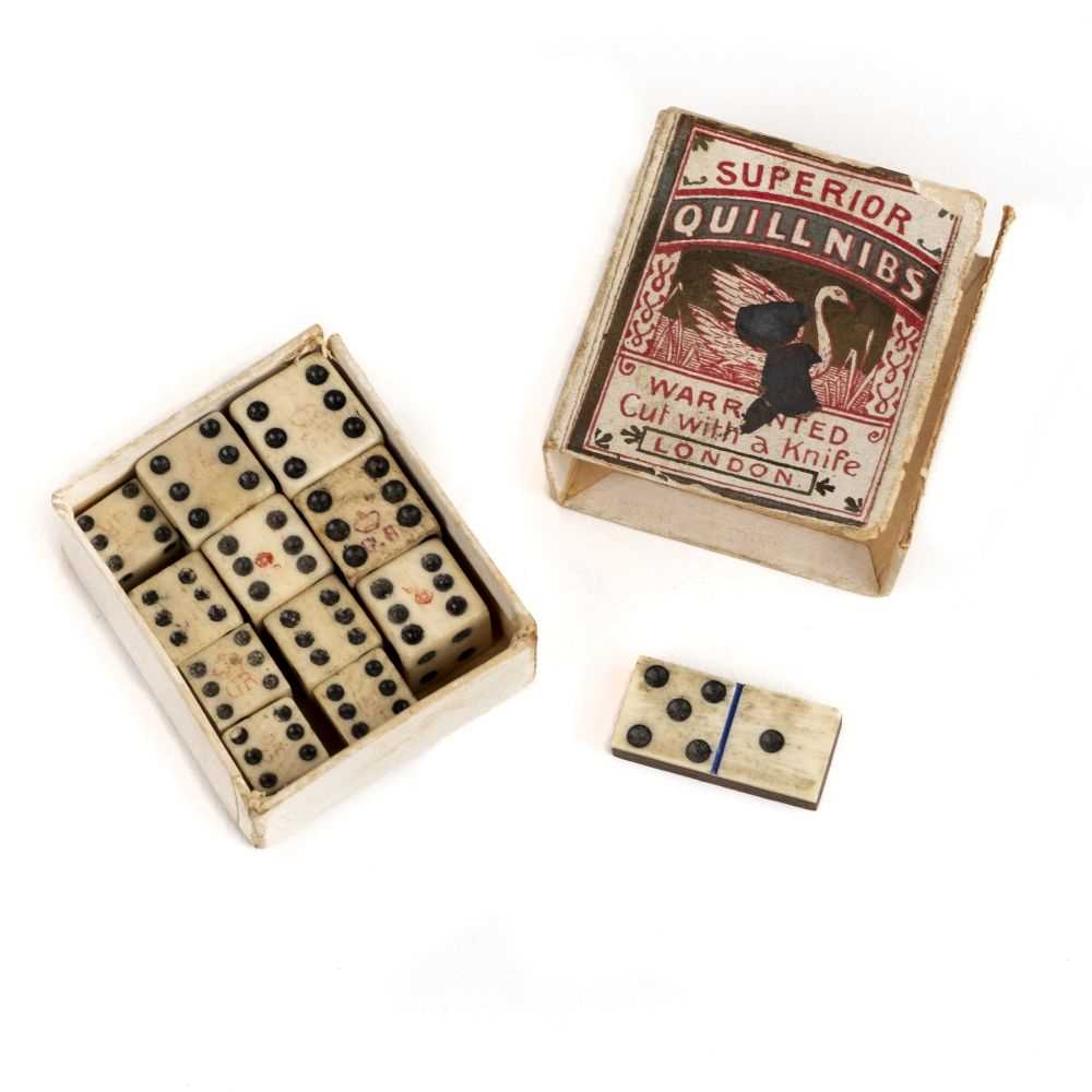 Lot 537-Bone dice. Nine Georgian bone dice