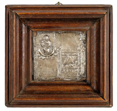 Lot 46-Silver Panel. A 17th century Continental silver panel