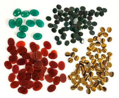 Lot 13-Jewellers Stones. A vast collection of semi-precious stones