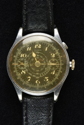 Lot 35-Military Wristwatch. A WWII period Gloria wristwatch