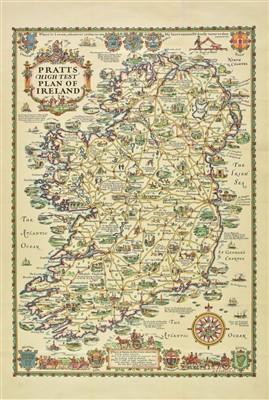 Lot 30-Ireland. Pratts High Test Plan of Ireland, 1933