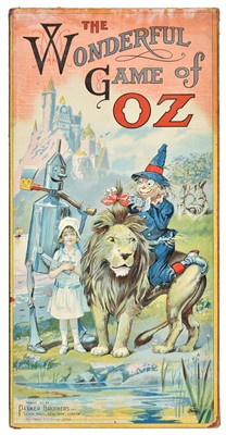 Lot 90-Board Game. The Wonderful Game of Oz, published Parker Brothers Inc, 1921