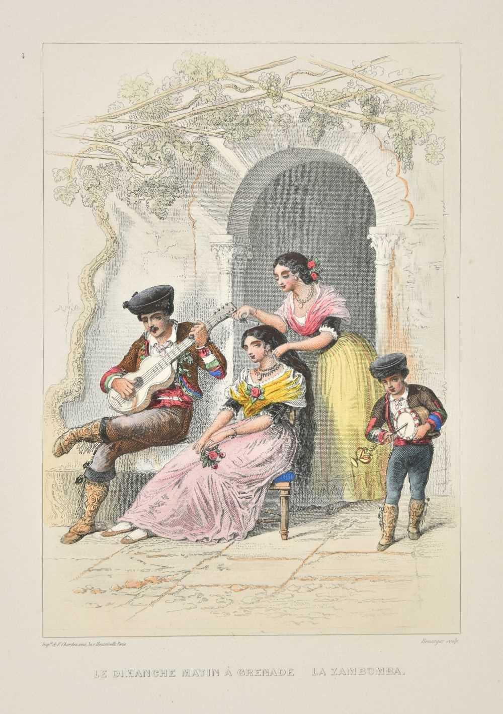 Lot 38-Spain. Album pittoresque, Paris: A. Laplace, [circa 1850]