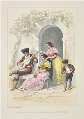 Lot 38-Spain. Album pittoresque, Paris: A. Laplace, [circa 1850]