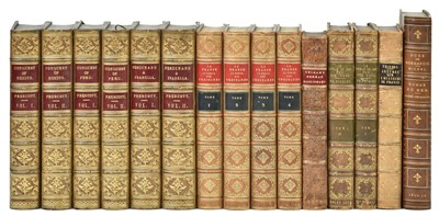 Lot 31-Prescott (William H.). Conquest of Mexico, 1850 [and others, finely bound]