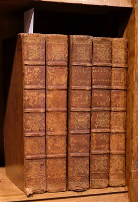 Lot 56-Leland (John). Itinerary of John Leland the Antiquary, 9 volumes in 5, 3rd edition, Oxford, 1768-69