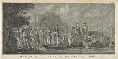 Lot 8-Cook (James). Voyage dans l'Hemisphere Austral et autour du Monde, 5 volumes, Paris, 1778
