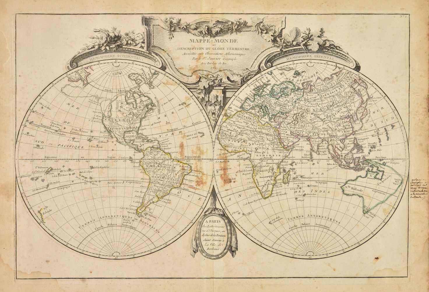 Lot 20-Lattre (Jean). Atlas Moderne ou Collection de Cartes, 1762