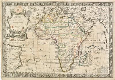 Lot 87-Africa. Danet (Guillaume), L'Afrique dressée..., 1732