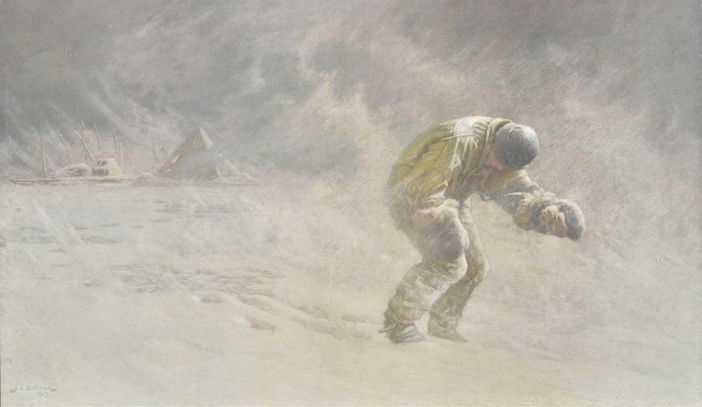 Lot 10-Dollman (J. C.). Captain Oates, 1913