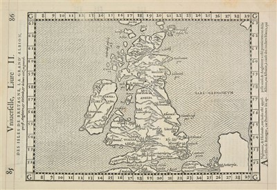 Lot 93-British Isles. De Belleforest (Francois), Des Isles de Bretagne, 1575