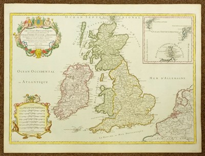 Lot 94-British Isles. Jaillot (Hubert), Les Isles Britanniques..., circa 1695