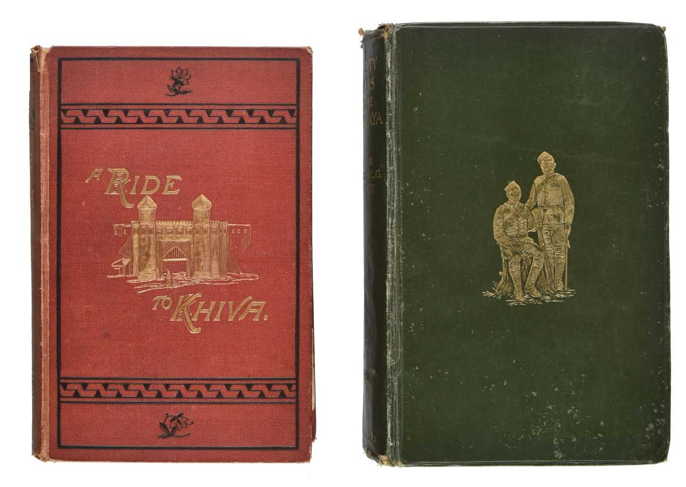 Lot 5-Burnaby (Frederick). A Ride to Khiva, 1st edition, 1876, [and others]