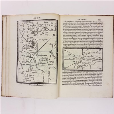 Lot 9-Bordone (Benedetto). Isolario, 2nd edition, 1534