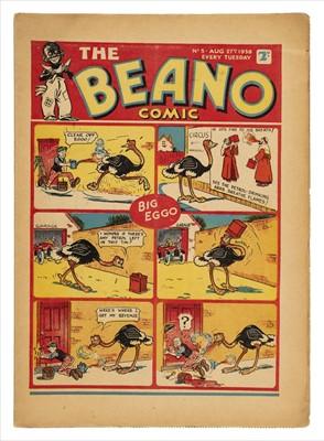 Lot 598 - Beano. The Beano Comic No. 5, 27 August 1938