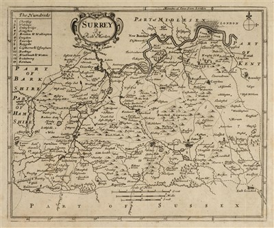 Lot 37-Morden (Robert). A collection of approximately 75 maps, [1701 or later]