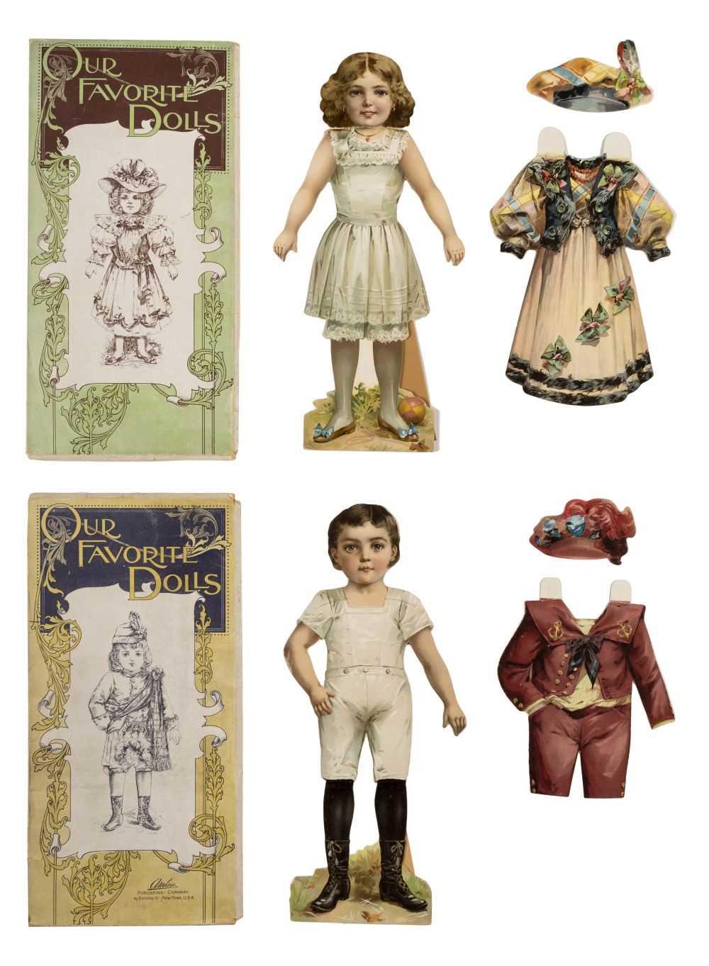Lot 541-Paper dolls. Our Favorite Dolls, circa1890s