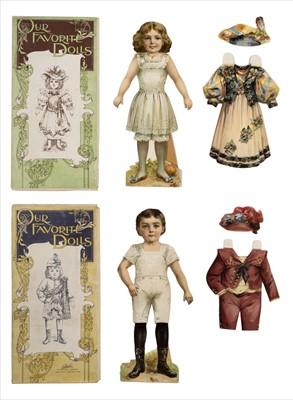 Lot 541 - Paper dolls. Our Favorite Dolls, circa1890s