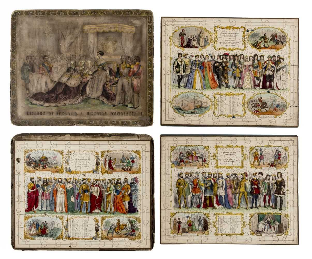 Lot 539-Jigsaw. History of England, after 1853