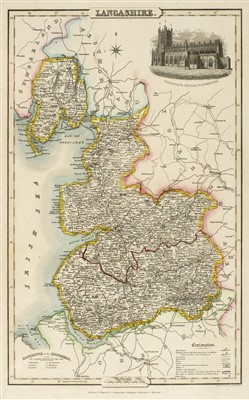Lot 10-British county maps. A mixed collection, 17th - 19th century