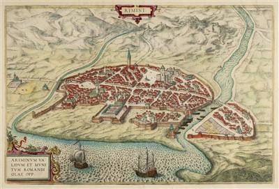 Lot 8-Braun (Georg & Hogenberg Frans). Three town plans, circa 1590