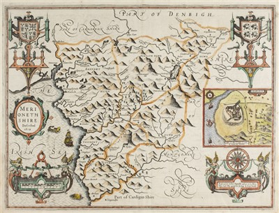 Lot 34-Maps. A mixed collection of seven maps, mostly 17th & 18th century