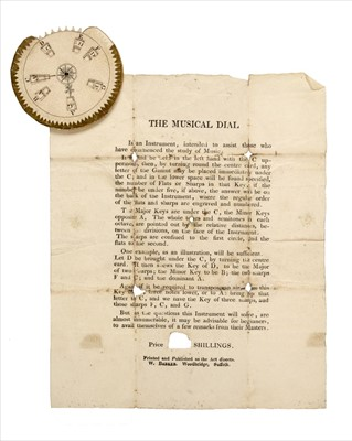 Lot 551 - Educational Aide. The Musical Dial, Woodbridge, Suffolk: W. Barker, early 19th century