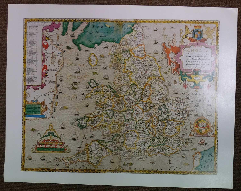 Lot 8-Saxton (Christopher), Twenty-five maps, [1579 but 20th century reproductions]
