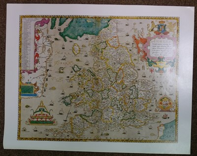 Lot 8-Saxton (Christopher), Twenty-five maps, [1579 but 20th century reproductions]