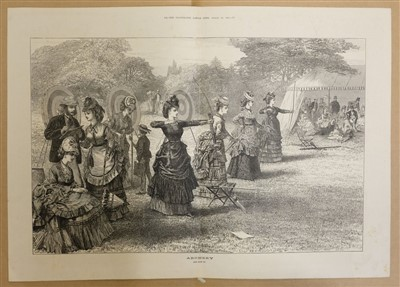 Lot 48-Sports & Pastimes. A mixed collection of approximately 150 prints, 19th & 20th century