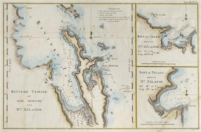 Lot 39-New Zealand. Three maps, circa 1774