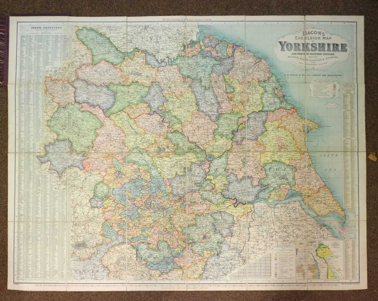 Lot 9-Touring & Ordnance Survey. A mixed collection of approximately sixty five maps, mostly 20th century