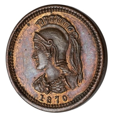 Lot 51 - Coin. Canada., Anticosti Island, Eighth-Penny, 1870