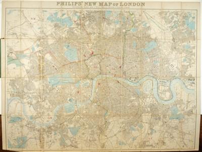 Lot 6-London. Reynolds (James), Reynolds' Map of London..., circa 1880