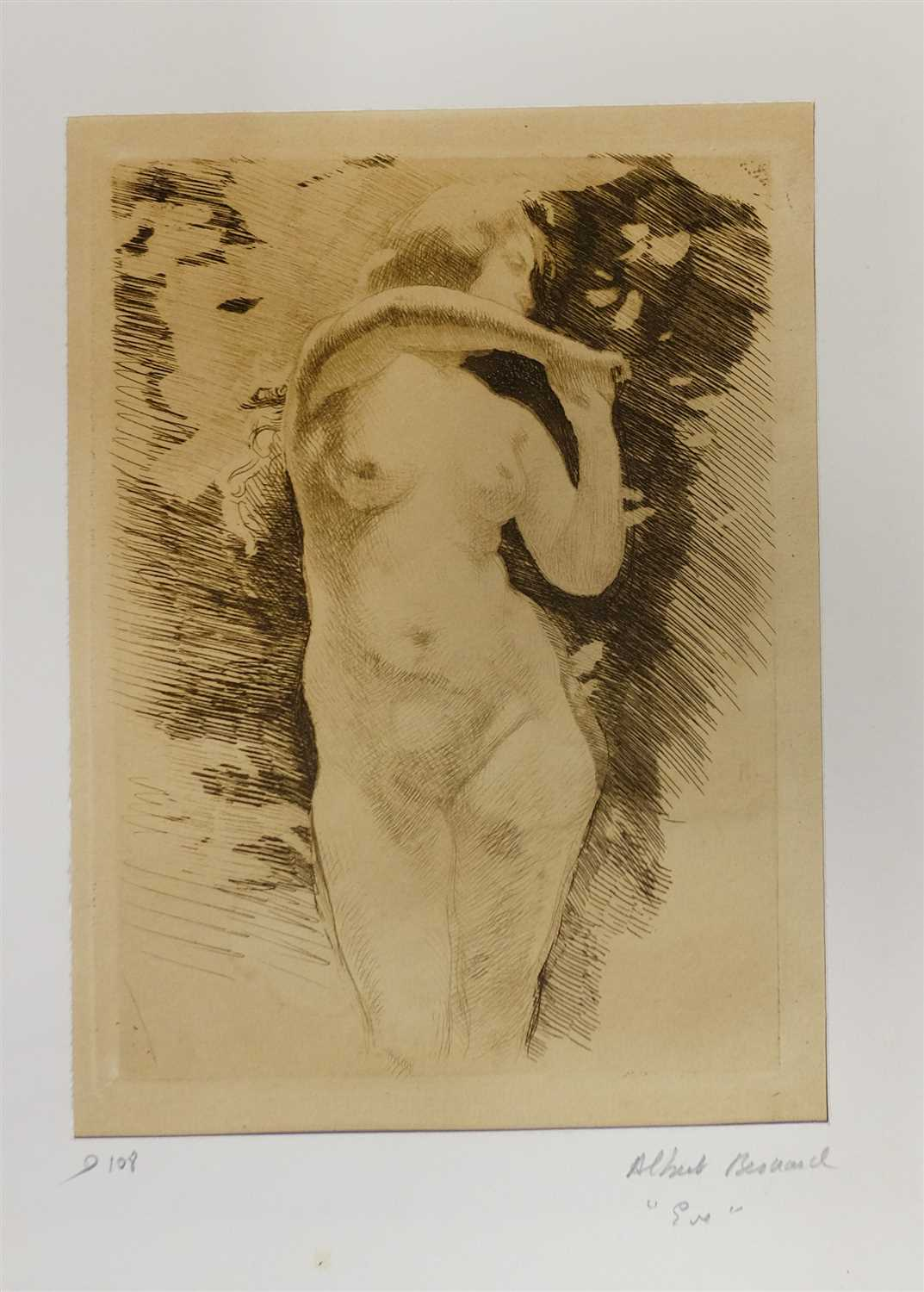 Lot 20-Etchings. A mixed collection of approximately sixty-five etchings, mostly early 20th century