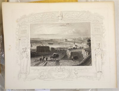 Lot 13-British topographical views. A mixed collection of approximately 600 prints, 19th century
